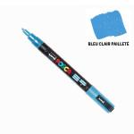 Marqueur PC-3M pailleté pointe conique fine - Bleu clair