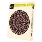 Puzzle en bois 80 pièces Notre Dame rosace
