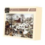 Puzzle en bois 350 pièces Bruegel Le dénombrement de Bethléem