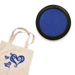 Izink textile - Tampon encreur - Bleu foncé indigo