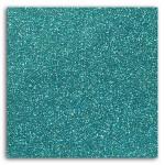 Tissu pailleté thermocollant 21 x 30,5 cm - Bleu
