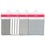 Torchon 100% Coton gris 50 x 70 cm