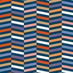 Tissu 50 x 140 cm Rayures multicolore et or