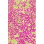 Feuille Décopatch - Ornement floral rose et or - 30 x 40 cm