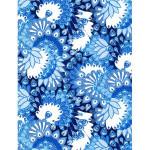 Feuille Decopatch - Plumes de paon faisant la roue bleu - 30 x 40 cm