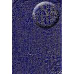 Feuille Décopatch - Bleu et or craquelé - 30 x 40 cm