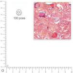 Facettes dépolies - Quartz rose - 3 mm x 100 pces