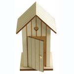 Cabine de plage en bois - 14 cm