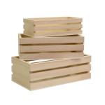 Casiers en bois lot de 3 tailles