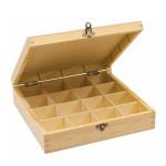Boîte de rangement en bois - 25 x 25 x 6,5 cm