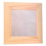 Cadre en bois plat & plexi 38 x 38 cm