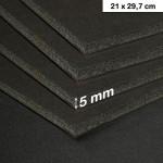 Carton mousse 5mm noir - 21 x 29,7 cm