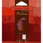 Pochette Origami Color - 12 x 12 cm - Rouge