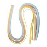 Papier quilling 50x0.6cm couleurs pastel 100 pièces