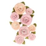 Fleurs en papier Roses Ø 3 à 4 cm