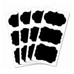 Stickers Ardoise - Cadres Baroques - 7,6 x 5,6 cm - 12 pces