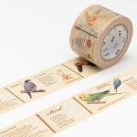 Masking tape large encyclopédie des oiseaux
