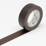 Masking tape uni marron chocolat