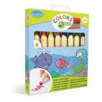 Crayon de couleur Jumbo 8 couleurs
