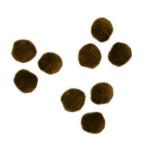 Pompons 15mm set de 60 - Brun