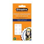Pastille adhésive transparente repositionnable Cléotops - 80 pcs