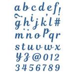 Forme de découpe die Cut-it All Alphabet majuscules 1 cm 42 pcs