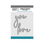 Die Set Love you - 2 pcs