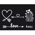 Dies Sweety Cuts - Direction Love - 4 pcs