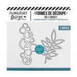 Die Set Cercles et feuillage - 2 pcs