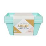 Desktop Storage - Lot de 2 bacs de rangement - 12,7 x 12,7 x 7 cm
