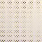 Papier Or Blanc et Pois 30,5 x 30,5 cm
