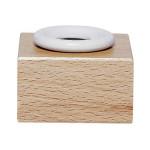 Encrier porcelaine avec support en bois