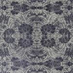 Papier Lokta Imprimé Fin 50 x 75 cm Noir Rhododendron