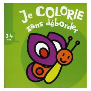 Album de coloriage Je colorie sans déborder Papillon