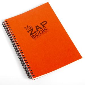 Bloc papier 1/2 Zap Book spiralé - 14,8 x 21 cm (A5)