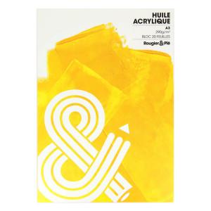 Bloc huile et acrylique A3 - 290g/m² - 20 feuilles