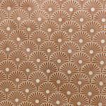 Papier Lokta Précieux  50 x 75 cm Kahori ivoire et cuivre