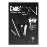 Bloc croquis Carb'On Papier noir 120 g/m² - 20 Fles - 29,7 x 42 cm (A3)