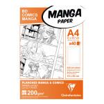 Papier Manga BD Comic A4 - 40 Fles - 200 g/m² Grille simple