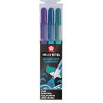 Stylo gel Gelly Roll 3 couleurs Set pailleté Stardust Ocean bleu