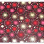 Papier Indien 50 x 70 cm 120 g/m² Artifices Noir, Rouge & Or
