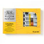 Peinture acrylique fine Galeria Set 9 tubes 60 ml et matériel