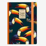 Carnet medium ligné toucan