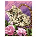 Peinture par numéro débutant Les Chatons rêveurs
