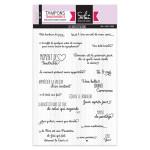 Set de 19 Tampons transparents Les jolies citations
